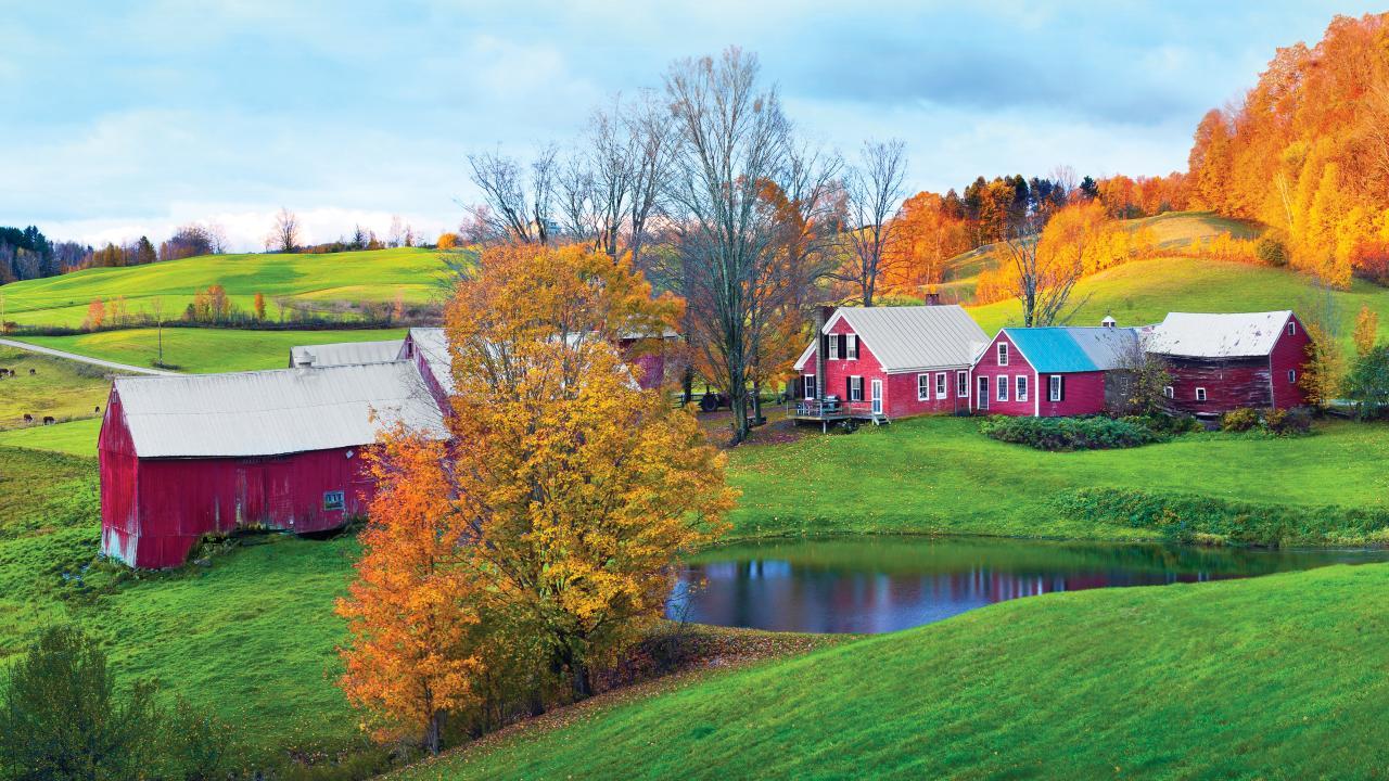 バーモント州:絵葉書のように美しい景色に出会える場所