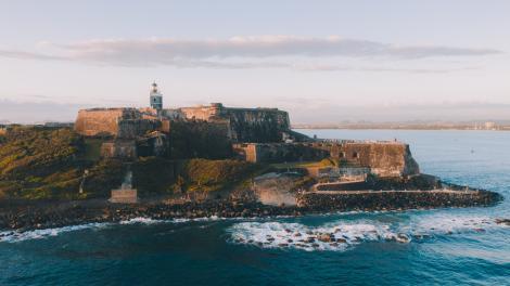 プエルトリコのサンフアンにあるカスティーリョ・サン・フェリペ・デル・モロ