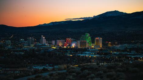 ネバダ州リノの上空からの眺め