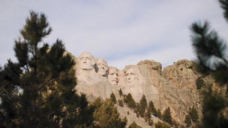 サウスダコタ州にあるラシュモア山国立記念公園