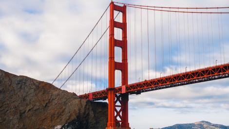 カリフォルニア州サンフランシスコのゴールデンゲートブリッジ