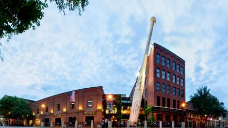 ケンタッキー州のルイビル・スラッガー・ミュージアム&ファクトリーの外観