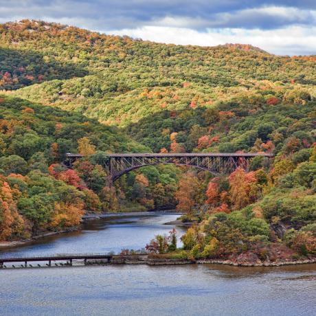 Foliage in the Hudson Valley bursts into vivid colors in the autumn