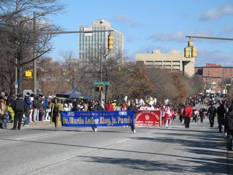毎年開催されるドクター・マーティン・ルーサー・キング・ジュニア・パレードはマーティン・ルーサー・キング・ジュニア・ブルバードとユートーストリートの交差点から出発してマーティン・ルーサー・キング・ジュニア・ブルバードを南に進み、ボルチモアストリートで解散します