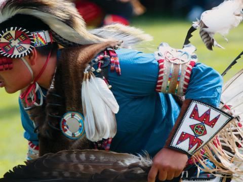 毎年開催されるプレインズ・インディアン・ミュージアム・パウワウ