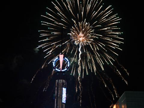 大晦日に開催されるレッド・スティック・レベルリーの花火