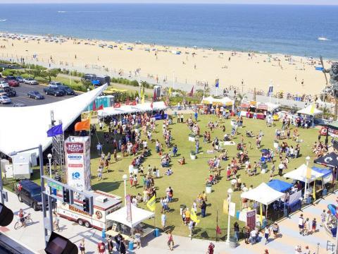 アメリカン・ミュージック・フェスティバルの上空からの眺め