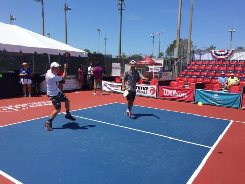 Competitive pickleball in Naples during the Minto US Open Pickleball Championships