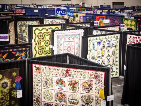Quilts on display at Paducah's Fall AQS QuiltWeek