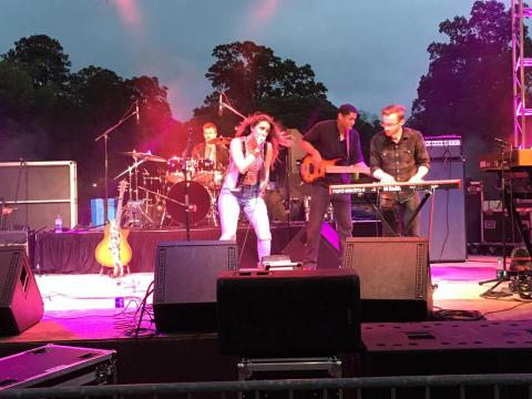 Performance during the Natchitoches Jazz R&B Festival