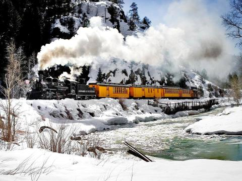 デュランゴ&シルバートン狭軌鉄道で出かける山への旅