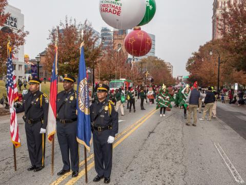 Part of the Atlanta Children's Christmas Parade procession