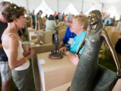 コロラド州ラブランドで開催されるスカルプチャー・ショー・ウィークエンドでの芸術イベント