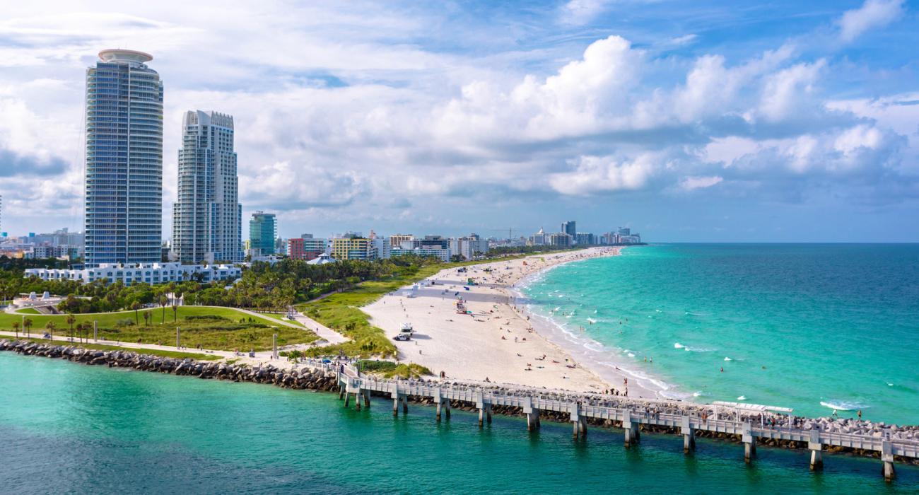 海がきれいなマイアミ